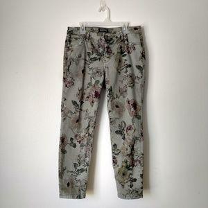 Buffalo David Bitton green floral jeans skinny